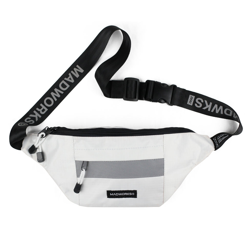 WBAG-003: MAD REFLEX BELT WAIST BAGS (WHITE)