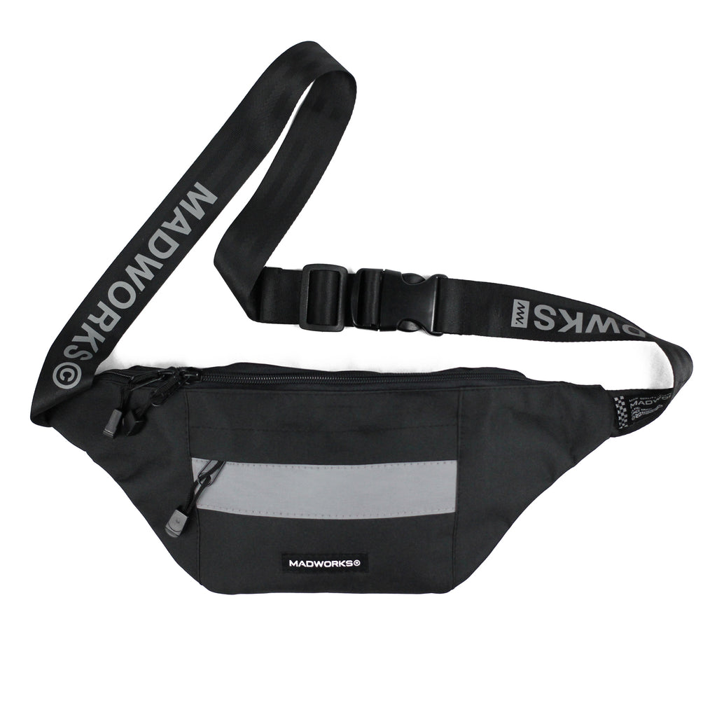WBAG-003: MAD REFLEX BELT WAIST BAGS (BLACK)