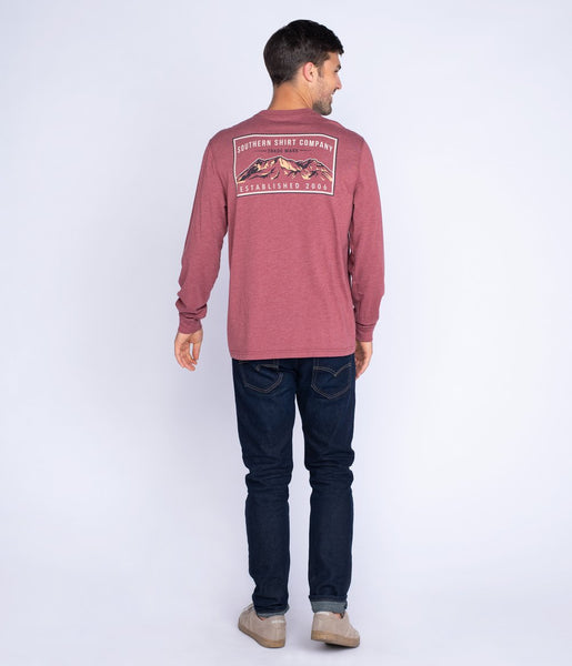 Southern Shirt - Mountain Stamp LS Tee - Canyon