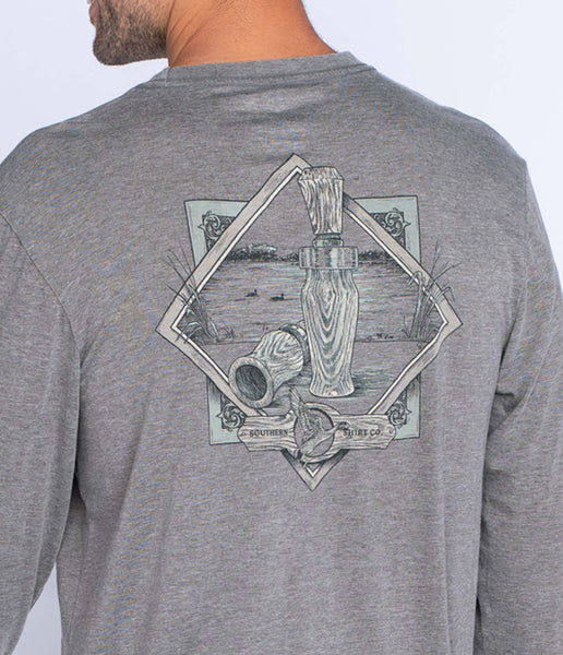 Southern Shirt - Waterfowl Sportsman LS Tee - Pewter