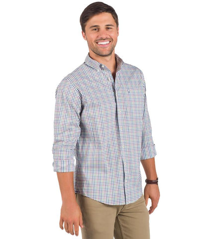 Southern Marsh - Cameron Performance Gingham - Breaker Blue & White