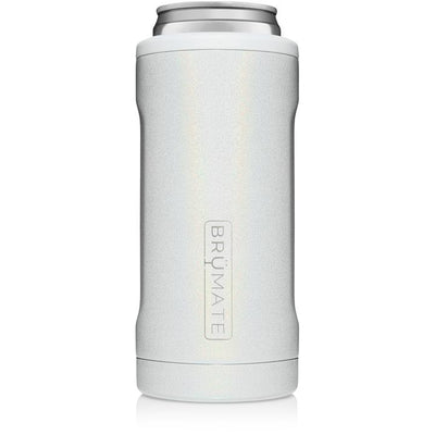 BruMate - HOPSULATOR SLIM | Glitter White (12OZ SLIM CANS)