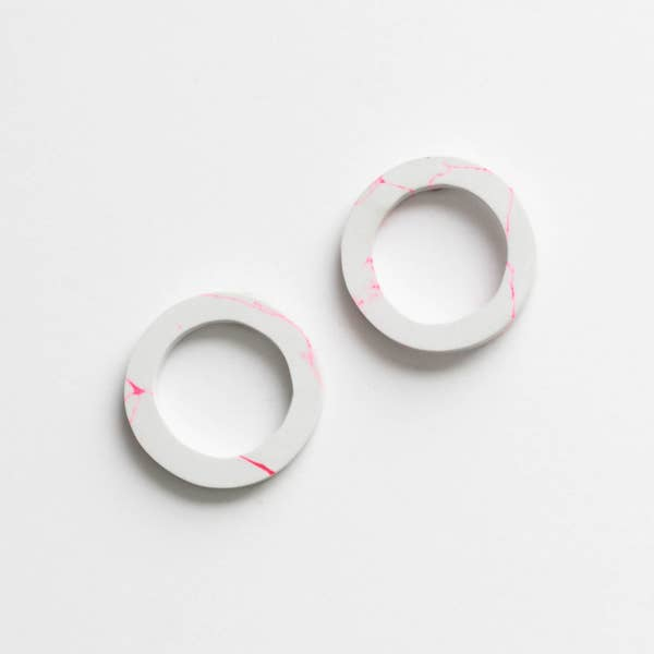 Rover & Kin Clay Circle Earrings