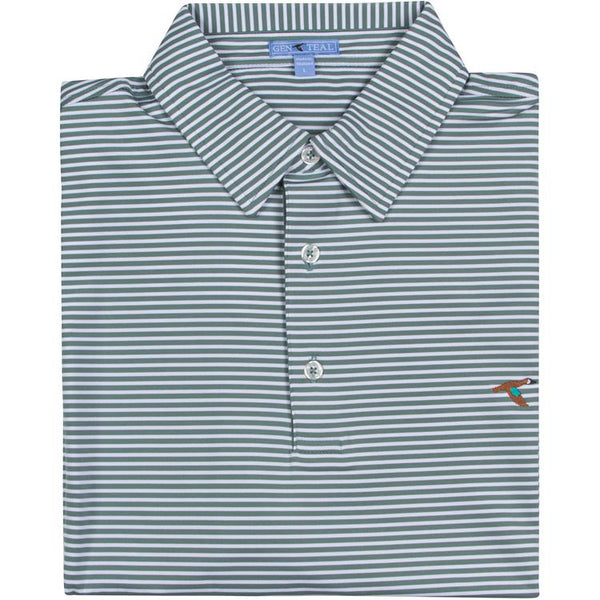 GenTeal - Clubhouse Stripe Polo- Everglade