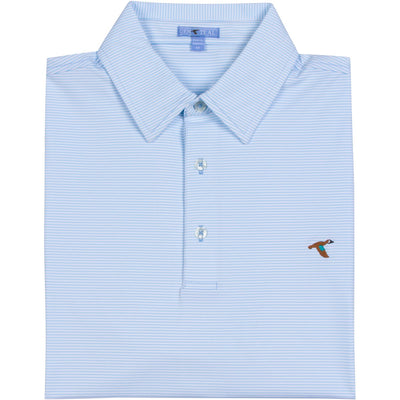 GenTeal - Cay Stripe Polo- Canal