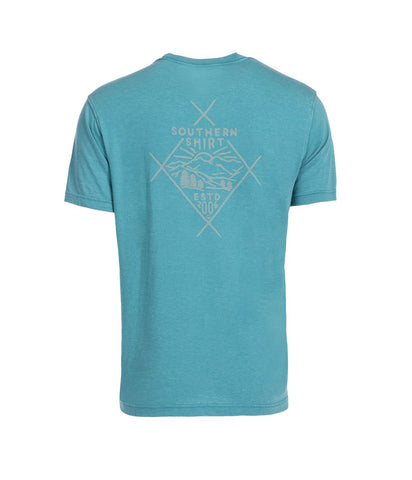 Southern Marsh - Authentic SS Tee - Washed Kelly Green
