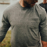 The Normal Brand - Vintage Bear LS Tee - Grey