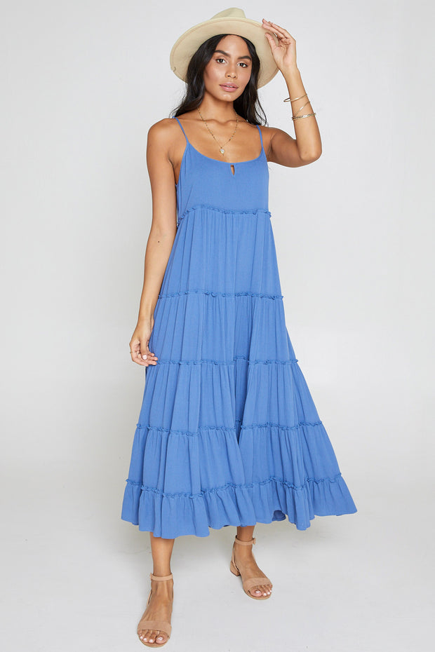 Among The Stars Ruffle Maxi