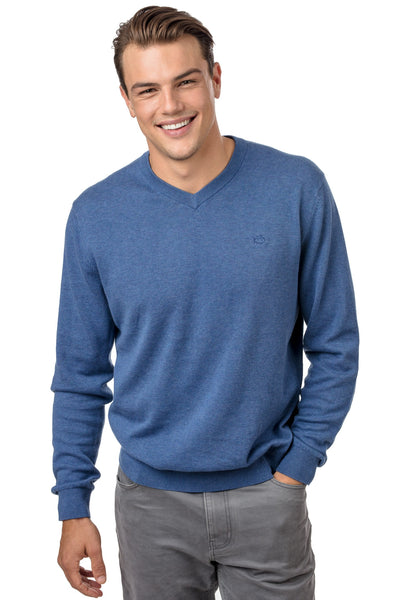 Southern Tide - Pawleys V-Neck Sweater - Yacht Blue
