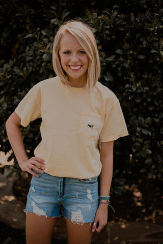Southern Charm - Beagle SS Tee - Butter