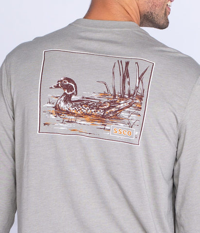 Southern Shirt - Wood Duck LS Tee - Wild Dove