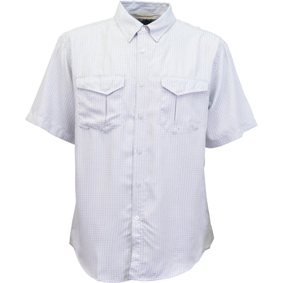 Aftco - Sirius Short Sleeve Button Down - Light Gray