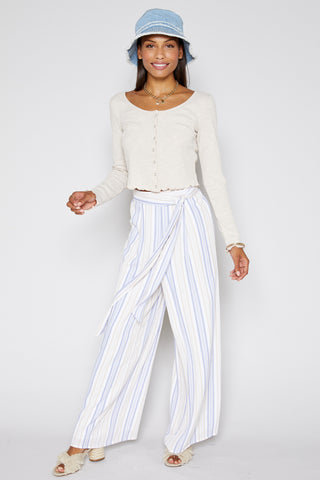 High Tide Stripe Wide Leg Pant