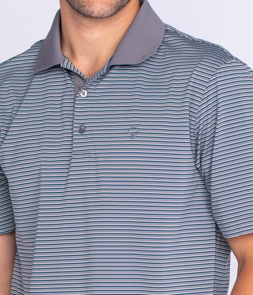 Southern Shirt - Rutledge Stripe Polo - Summit