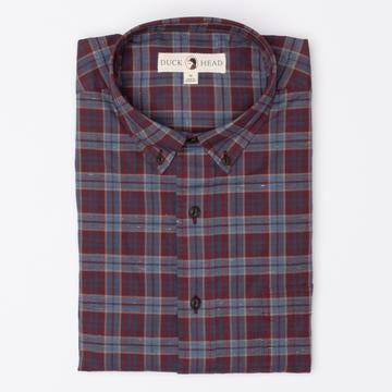 Duck Head - Thornton Melange Plaid Button Down - Port Royale