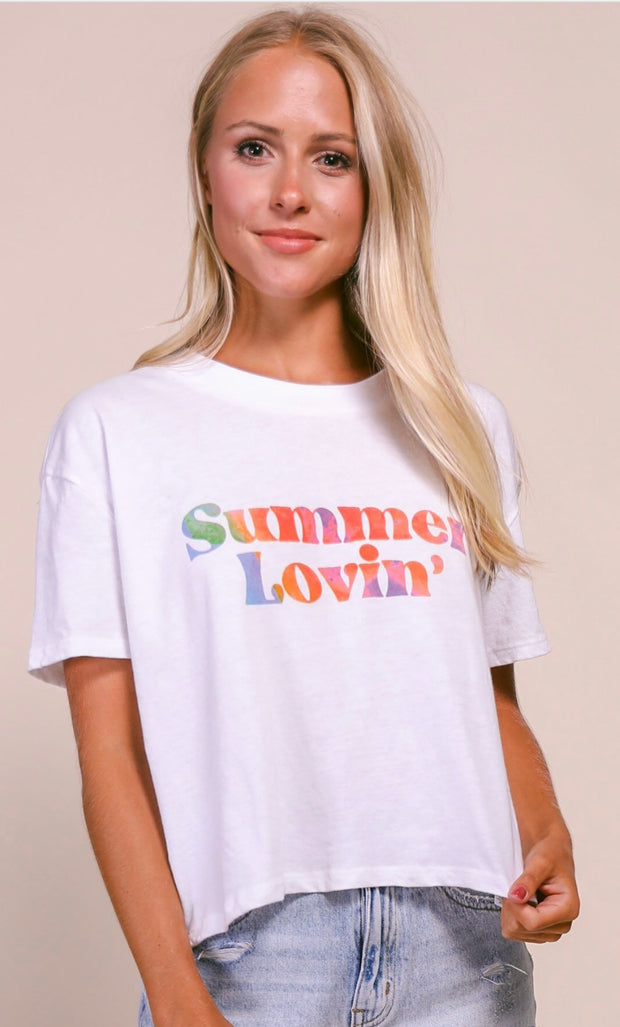 Friday + Saturday  - Summer Lovin' Cropped T-Shirt