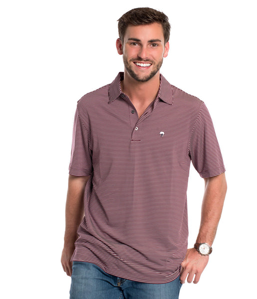 Southern Shirt - Westbrook Stripe Polo - Maroon