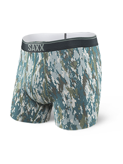 SAXX - Platinum Boxer Fly - Black/ Dark Grey