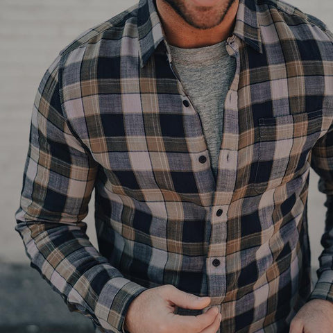 The Normal Brand - Skipper Button Up Shirt - Grey