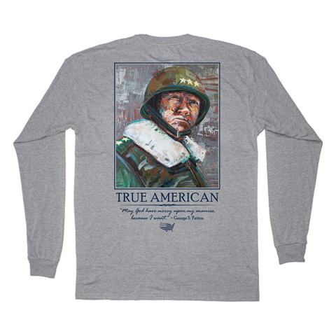 Peach State Pride - Patton LS Tee - Grey