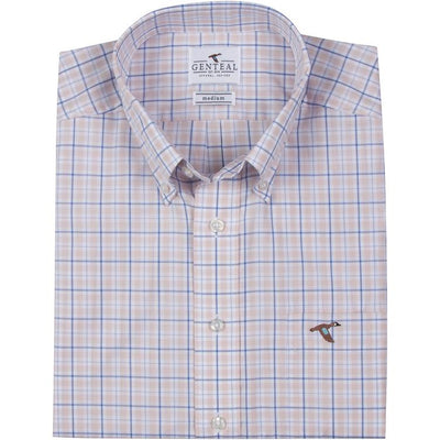 GenTeal - Austin Tattersall Button Down- Salmon