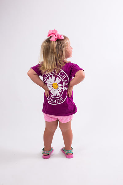 Southern Charm - Youth Daisy SS Tee - Boysenberry