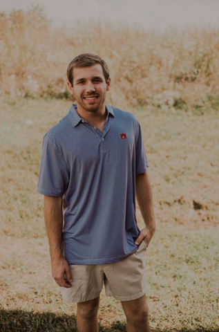 Southern Charm - Auburn Performance Polo - Navy