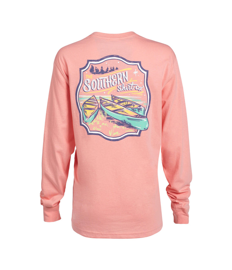 Southern Shirt - Fall Retreat LS - Pink Icing
