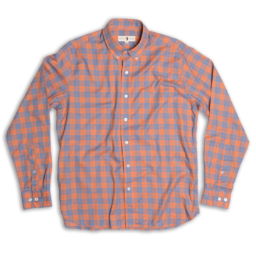 Duck Head - Marshfield Plaid Button Down - Sunbaked Orange