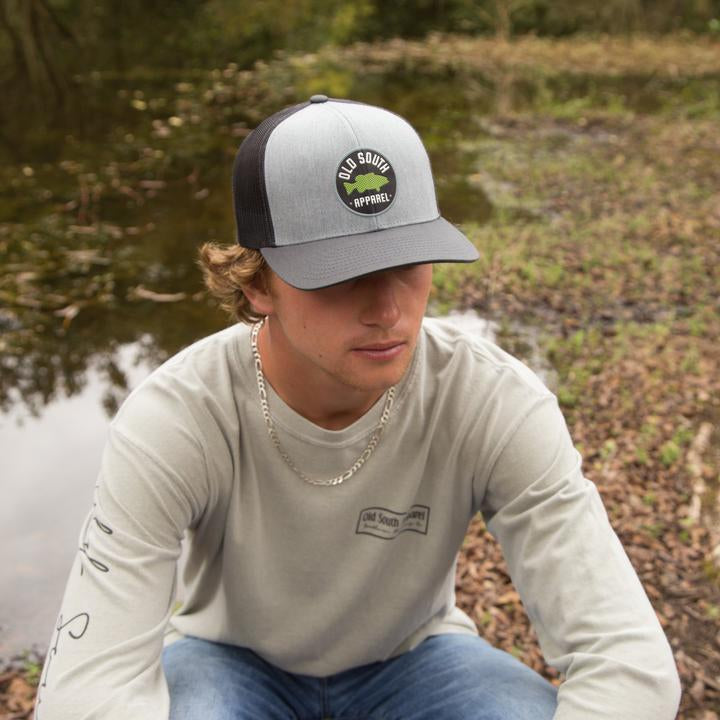 Old South Apparel - Bass Patch Trucker Hat - Heather Grey/Light Charcoal