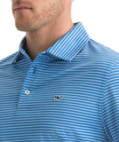 Vineyard Vines - Kennedy Stripe Polo - Hull Blue
