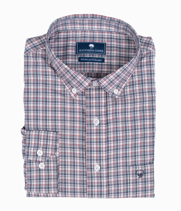 Southern Shirt - Tanner Plaid - Colonial Blue