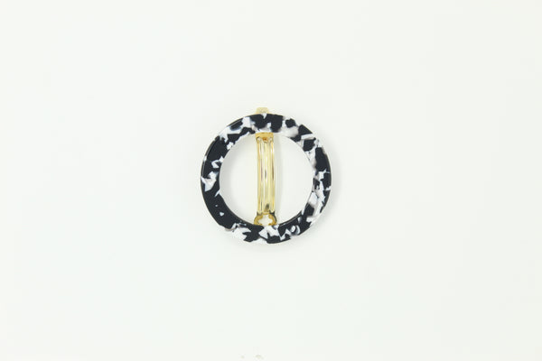 Circle Hair Clip Black