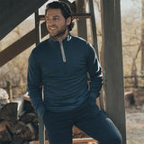 The Normal Brand - Puremeso Quarter Zip Pullover - Navy