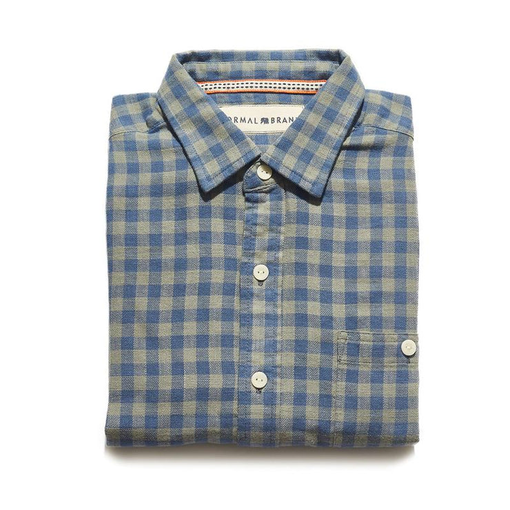 The Normal Brand - Stephen Indigo Gingham Button Up Shirt
