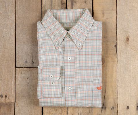 Southern Marsh - Ocoee Washed Plaid Button Down - Navy & Green