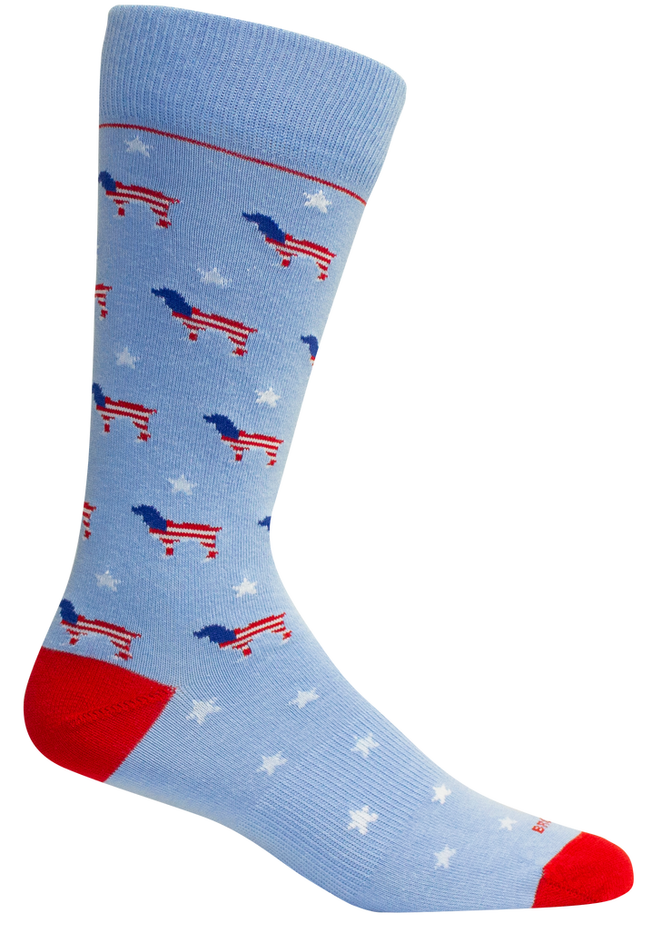 Brown Dog - Red White Beau Sock - Della Blue