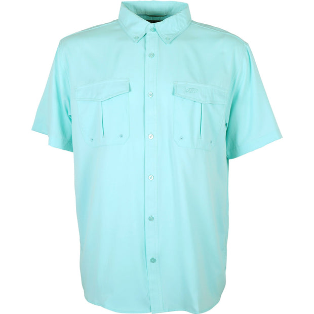 Aftco - Rangle Short Sleeve Button Down - Bahama