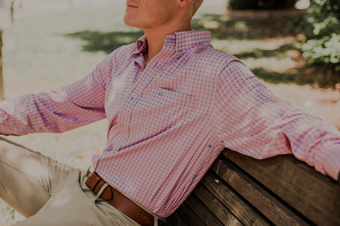 Southern Tide - Dunecrest Gingham Intercoastal - Tango Pink