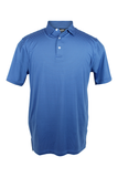 Southern Charm - Cove Stripe Performance Polo - Blue/Navy