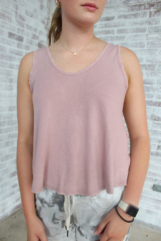 Some Occasions Ribbed Tank Top