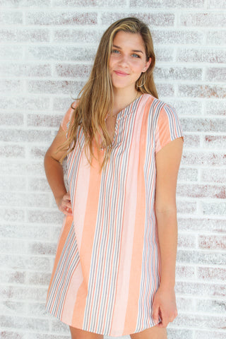 Sunfire Striped Dress