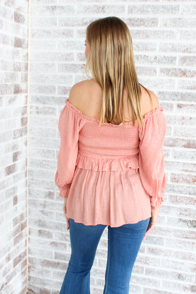 Passing Expectations Off The Shoulder Top