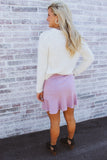 Ivy Suede Ruffle Mini Skirt