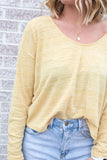 Note To Self Cropped Knit Long Sleeve Top