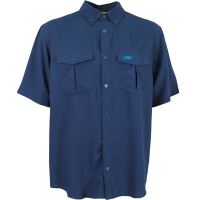 Aftco - Rangle Short Sleeve Button Down - Ink