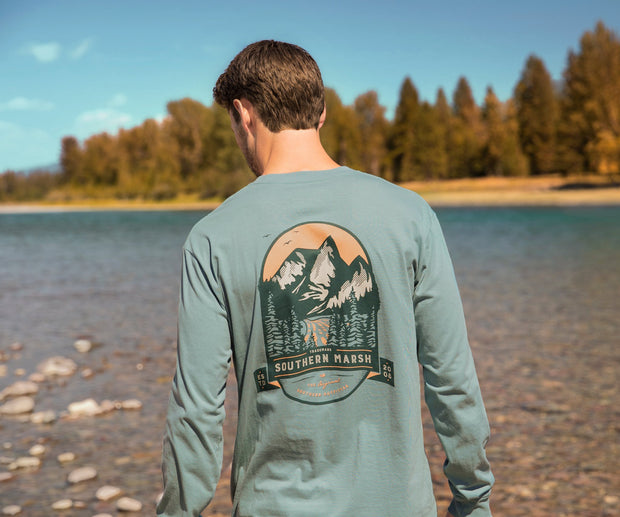 Southern Marsh - Mountain Pass LS Tee - Burnt Sage