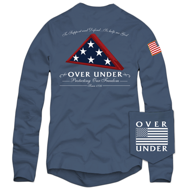 Over Under - LS Folds Of Honor - Navy