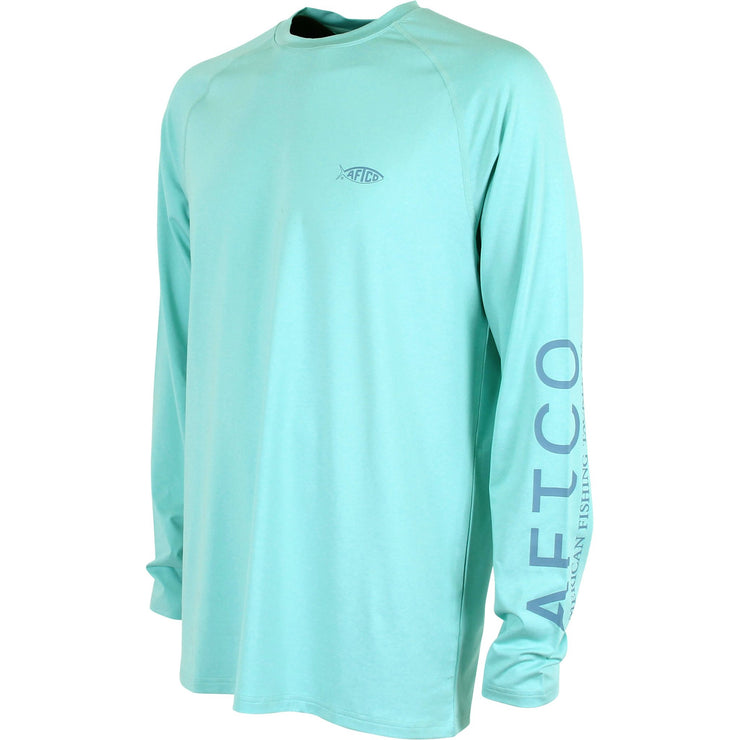 Aftco Samurai 2 Long Sleeve Tee - Bahama Heather