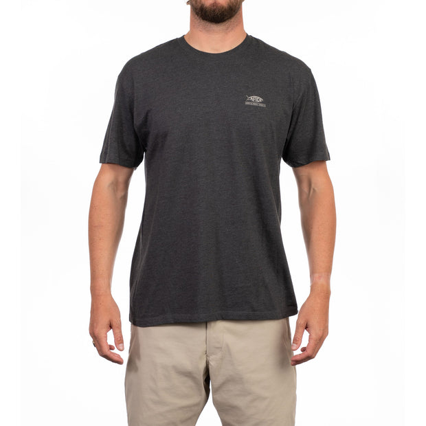 Aftco - Release Short Sleeve Tee - Charcoal Heather